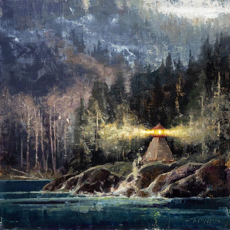 West Coast Beacon - lighthouse painting