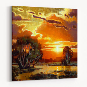 Western Brilliance Canvas Print Sunset Landscape
